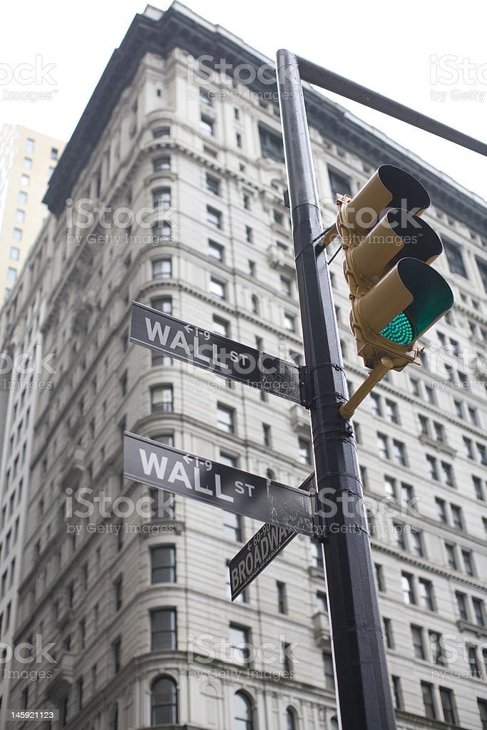 Wall Street Signage royalty-free stock photo