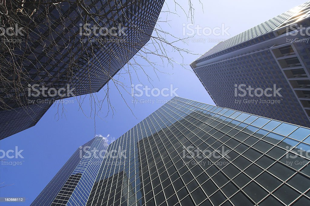 Wall Street Towers royalty-free stock photo
