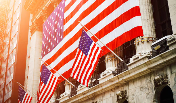 wall street, usa - new york stock exchange stock pictures, royalty-free photos & images