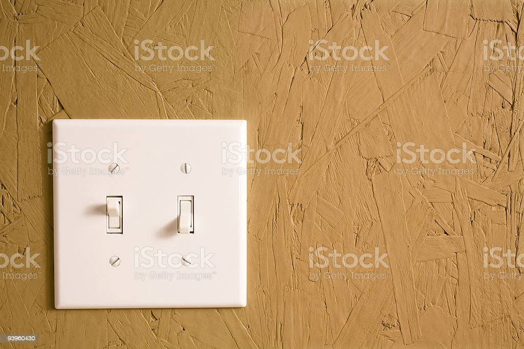 Wall switch royalty-free stock photo
