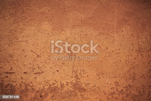 facade view of the plaster adobe style wall for design background