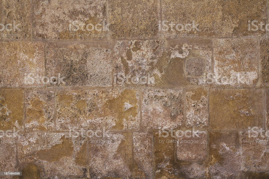 Wall texture. Square bricks. Colour brown. background royalty-free stock photo