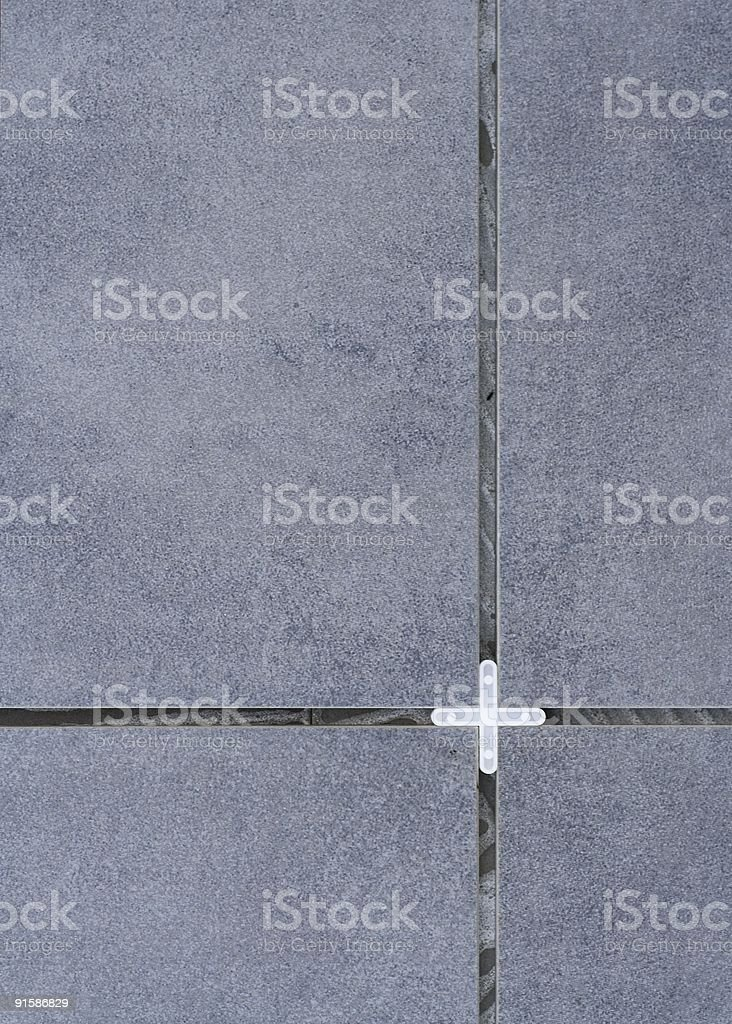 Wall Tiles and Tile Spacer stock photo