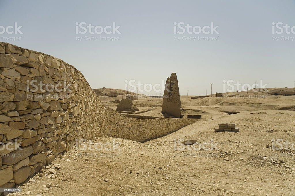 Wand in der Wüste Lizenzfreies stock-foto
