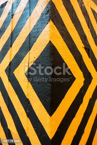 istock Wall warning sign - right and left direction arrow 1051781500