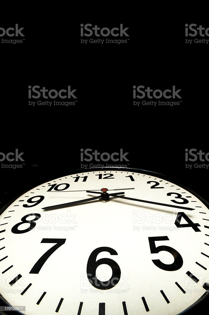 Wall watch stock photo