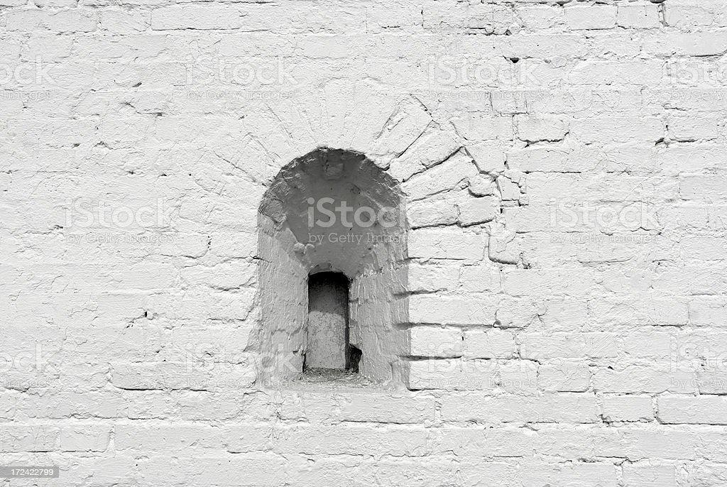 Wall white brick royalty-free stock photo