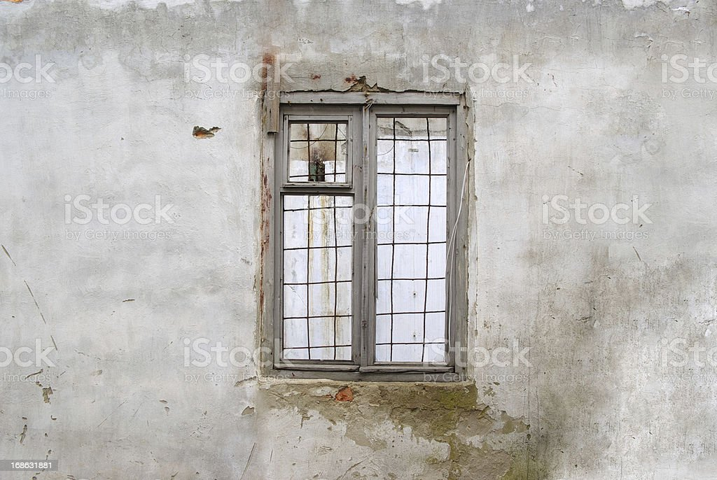 Wall window old royalty-free stock photo