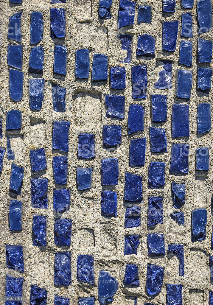 Wall with blue stone rock. royalty-free stock photo