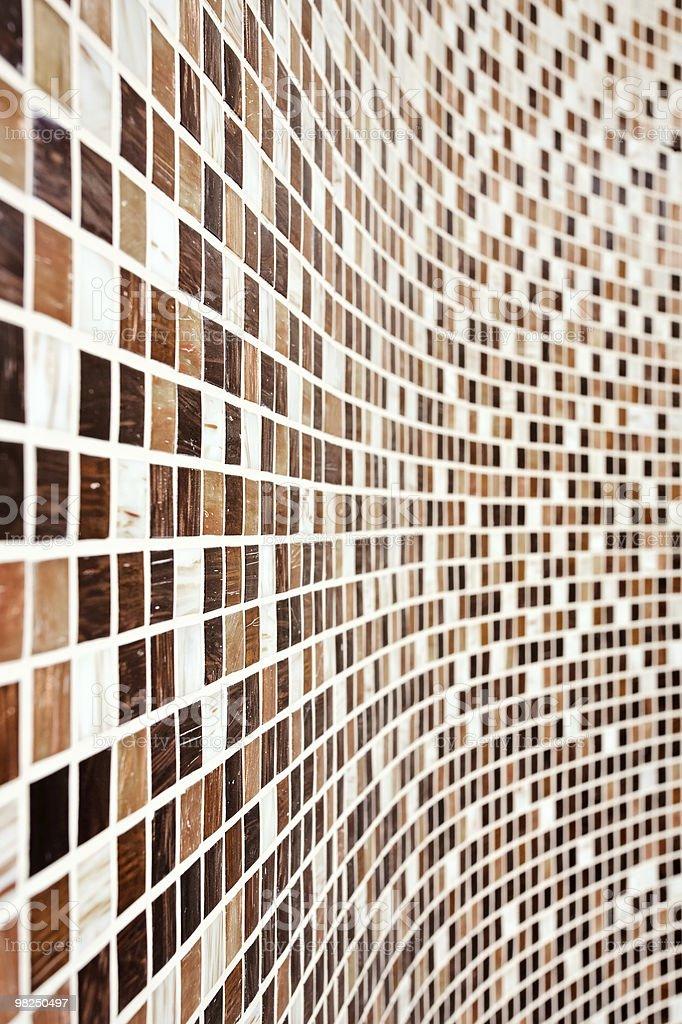 Parete con mosaico marrone modello foto stock royalty-free