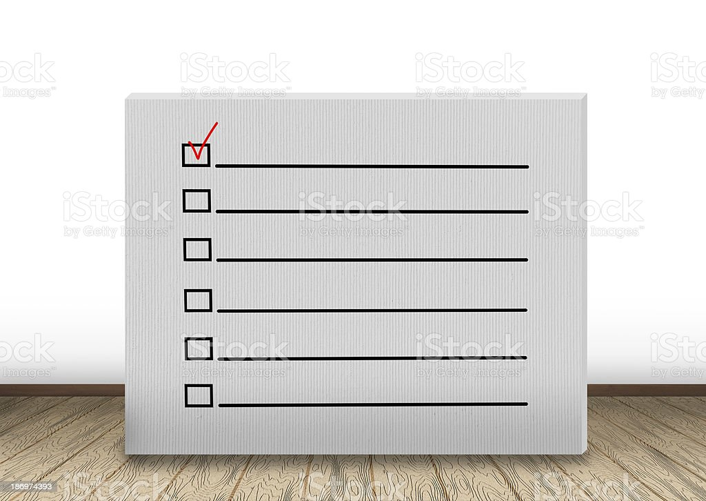 wall  with checklist royalty-free stock photo