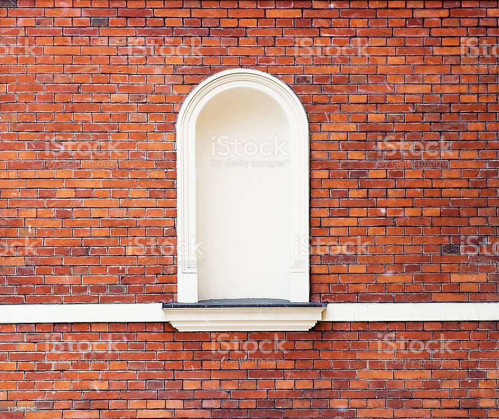wall with niche royalty-free stock photo