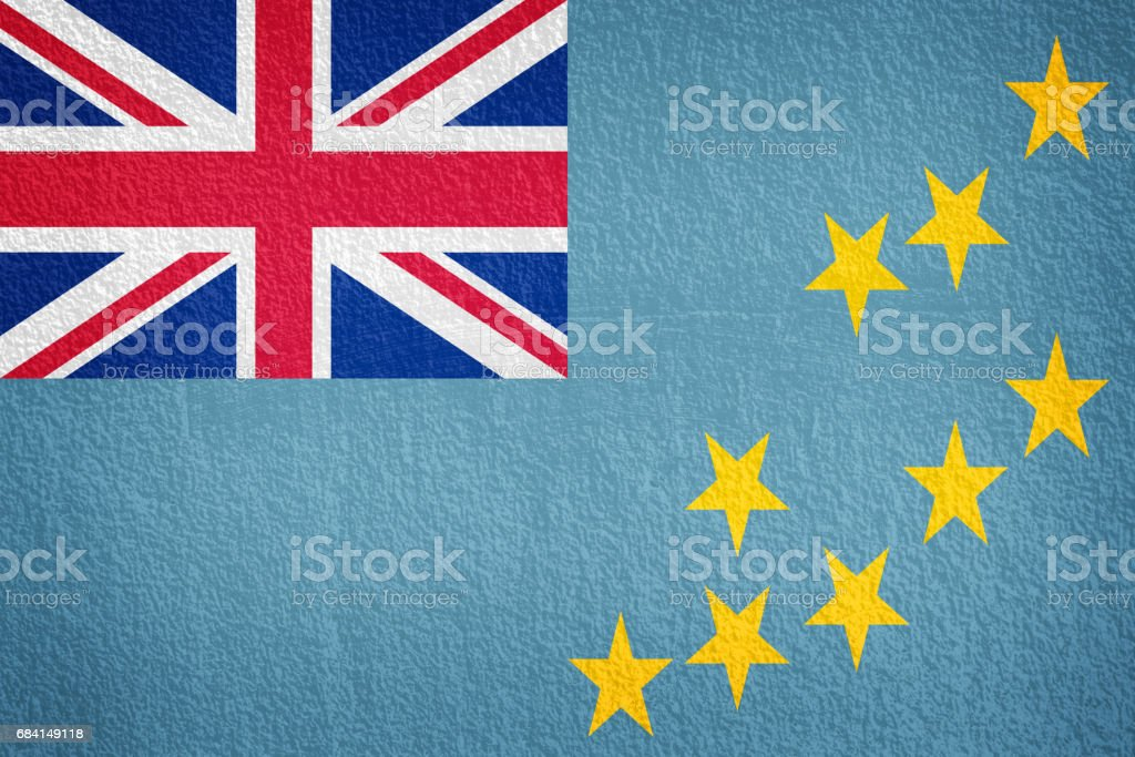 wall with painted flag of Tuvalu foto stock royalty-free