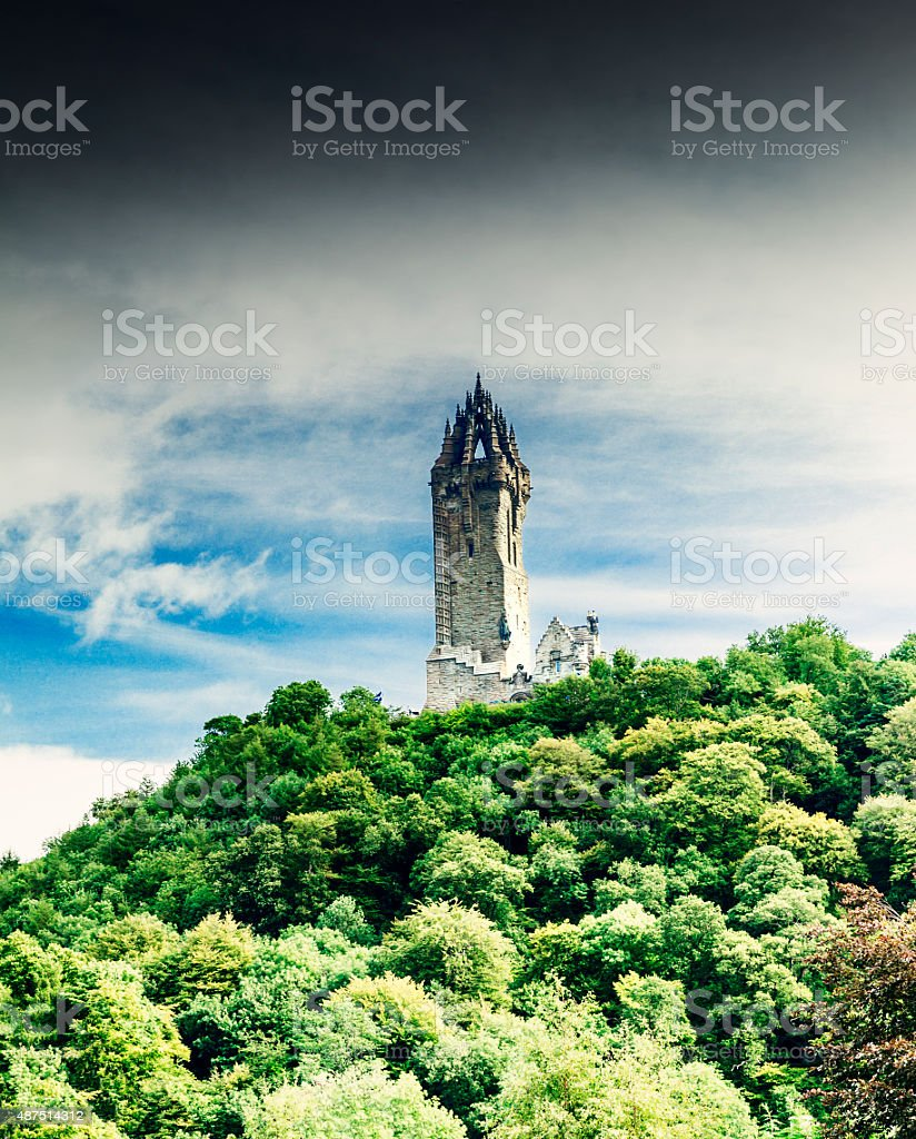 Wallace Monument, Scotland stock photo