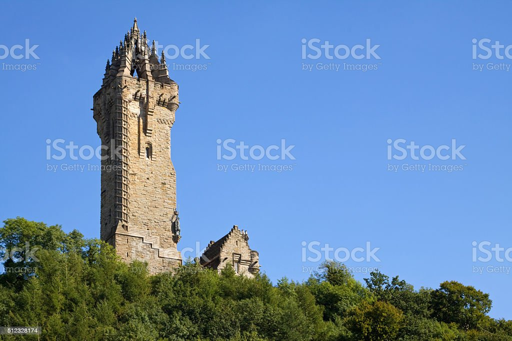 Wallace Monument, Stirling, Scotland stock photo