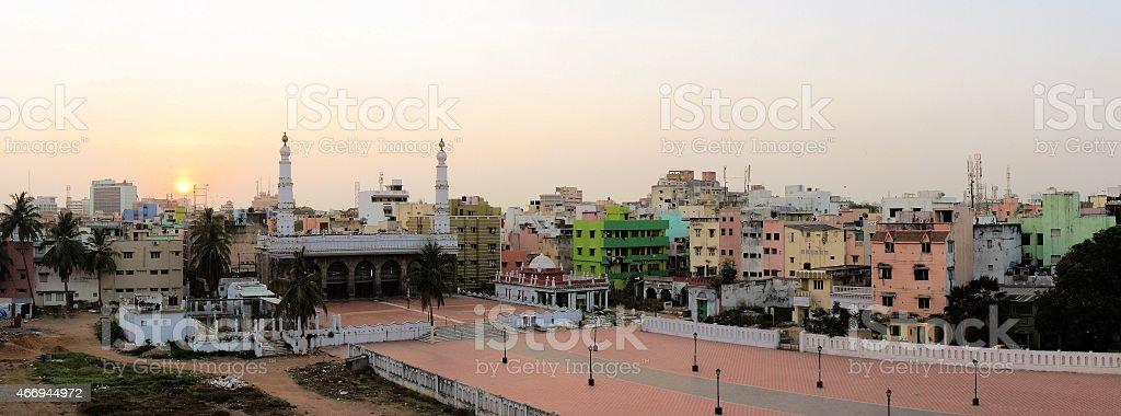 Wallajah Mosque in Triplicane, Chennai, Tamil Nadu, India stock photo