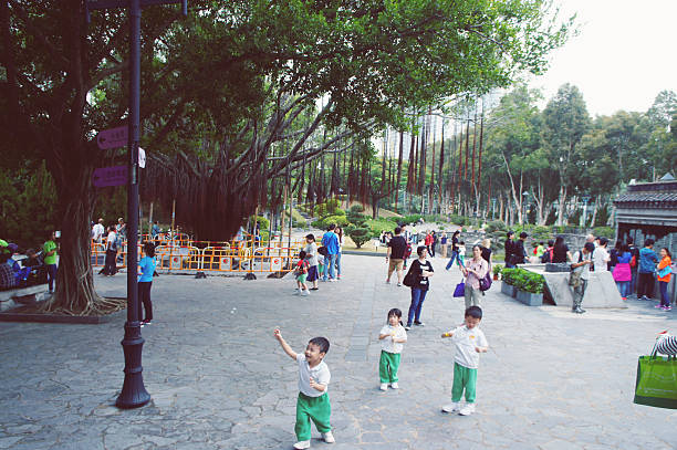 Walled City Park in the Hong Kong stock photo