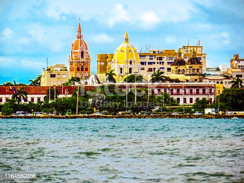 1148861090istockphoto Walled city view from sea wall in Cartagena Colombia 1164580356