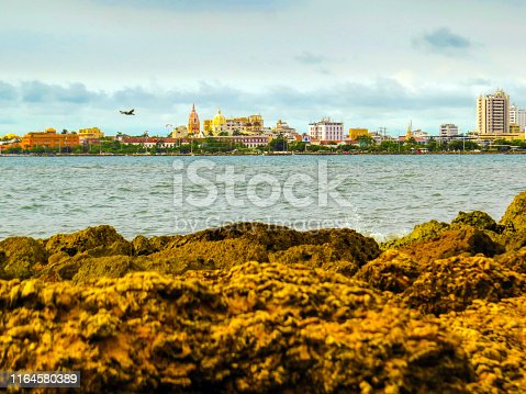 1148861090istockphoto Walled city view from sea wall in Cartagena Colombia 1164580389