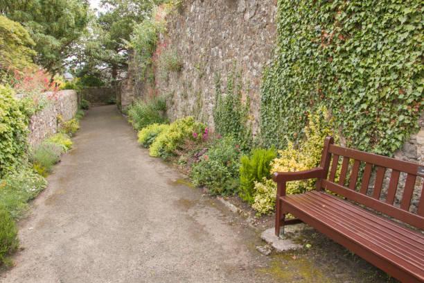 Walled Garden. stock photo