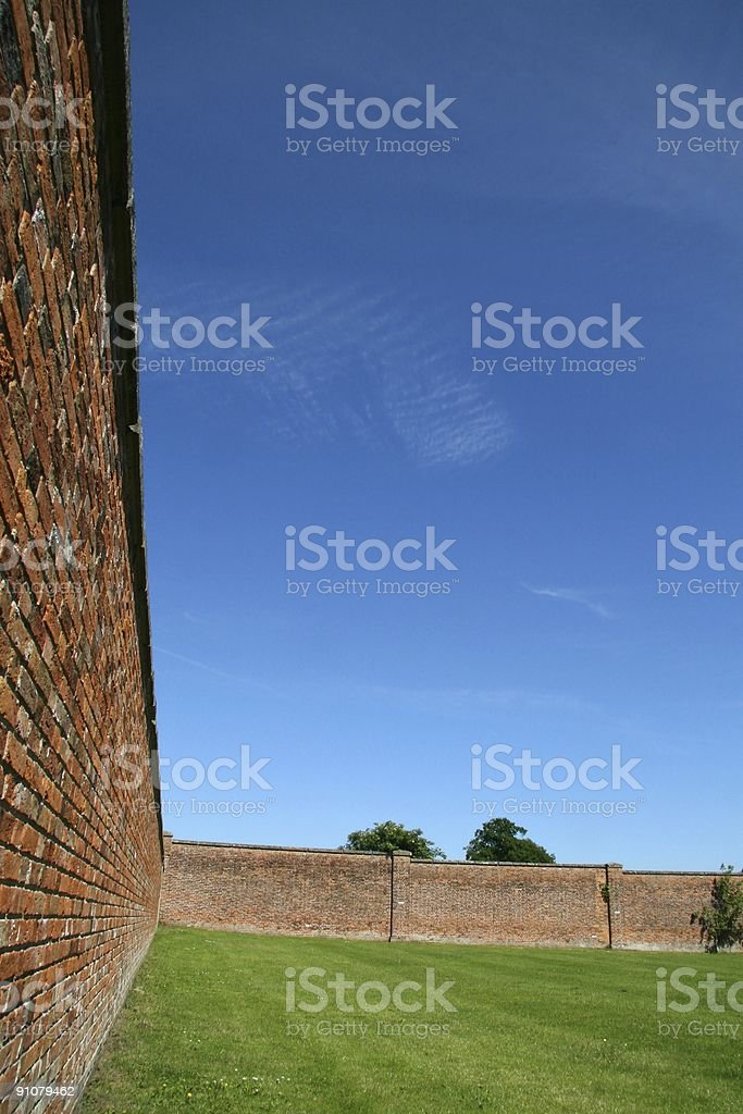 Walled Space stock photo
