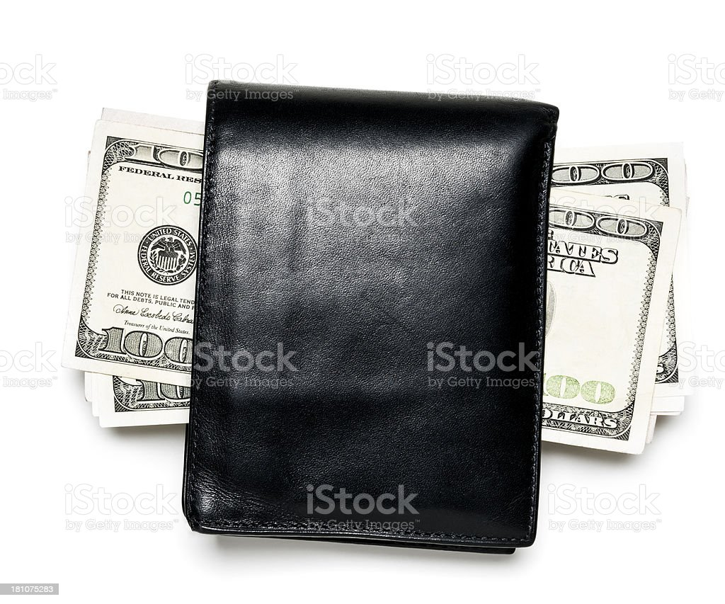 wallet and money royalty-free stock photo