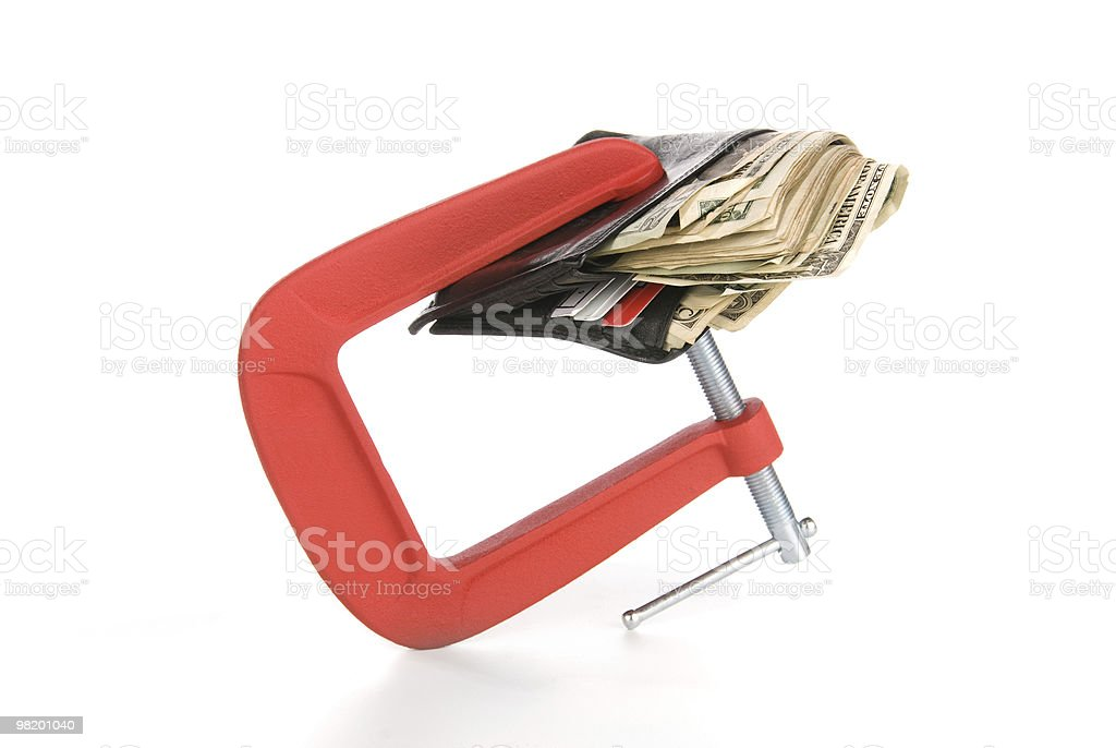 Wallet clamped shut royalty-free stock photo