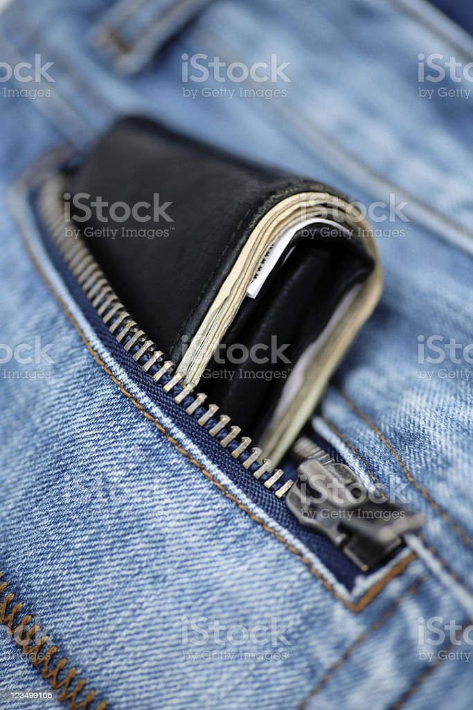 Wallet in the Back Pocket royalty-free stock photo