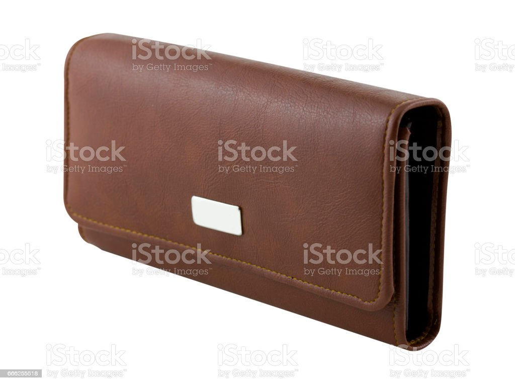 wallet isolated on the white background stock photo
