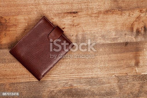 Leather wallet isolated on  background