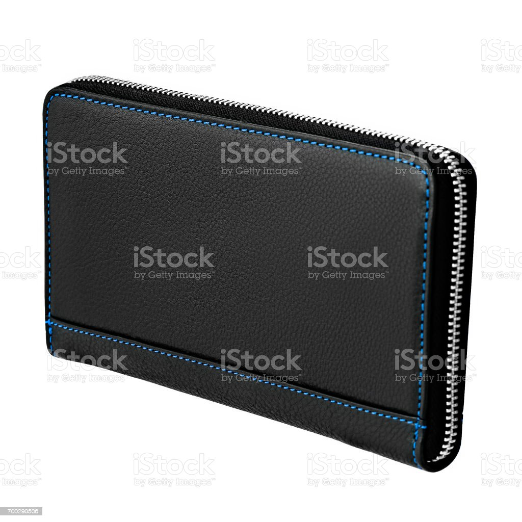 Wallet with a zipper stock photo