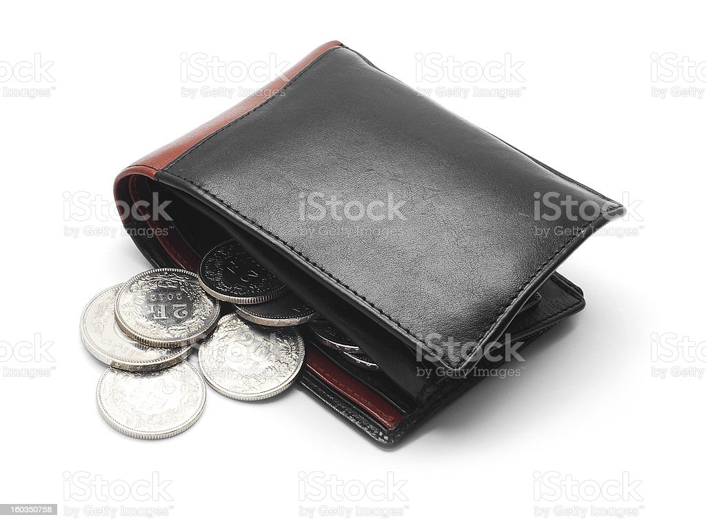 wallet with coins royalty-free stock photo