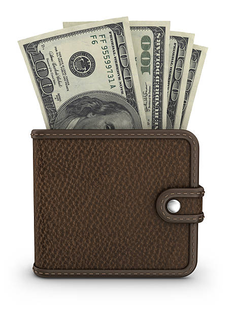 wallet with dollars  wallet money stock pictures, royalty-free photos & images