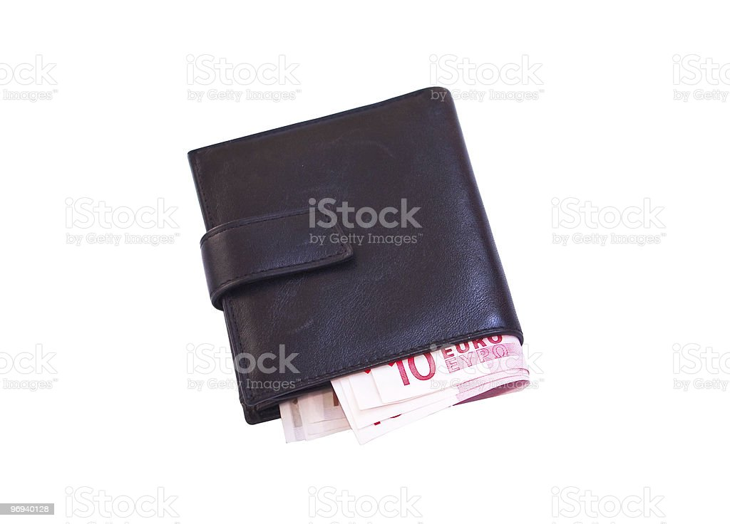 wallet with euro royalty-free stock photo