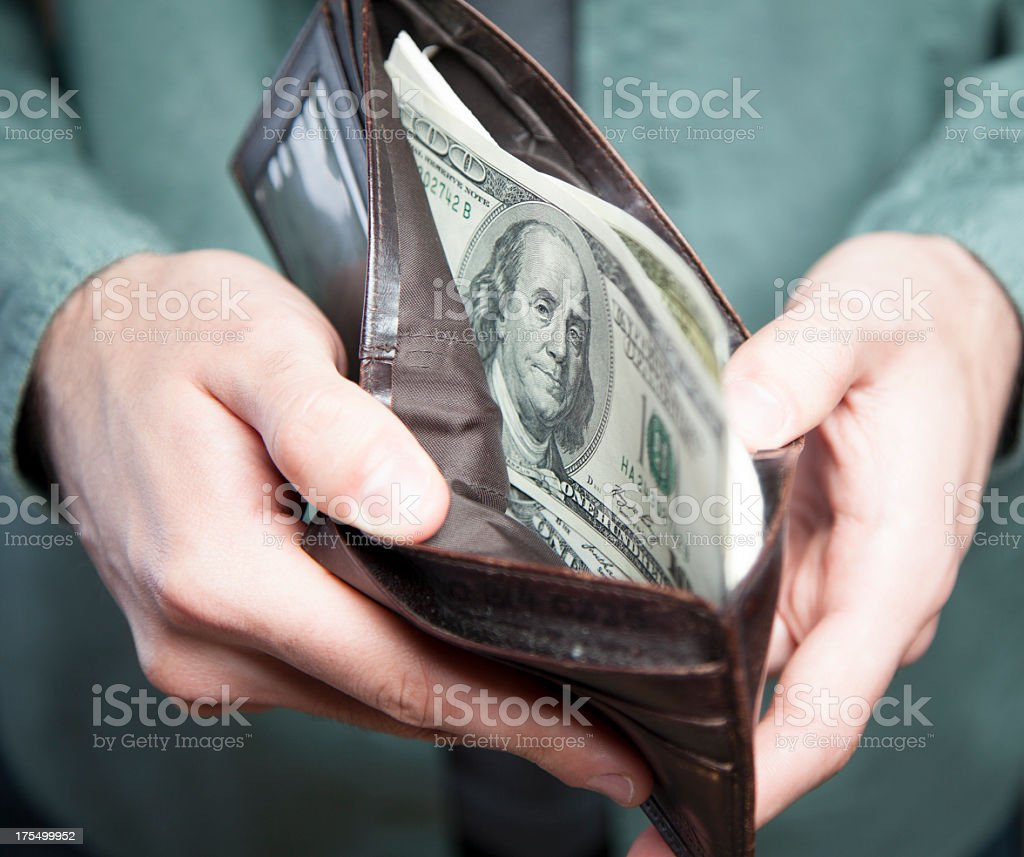 Wallet with Money royalty-free stock photo
