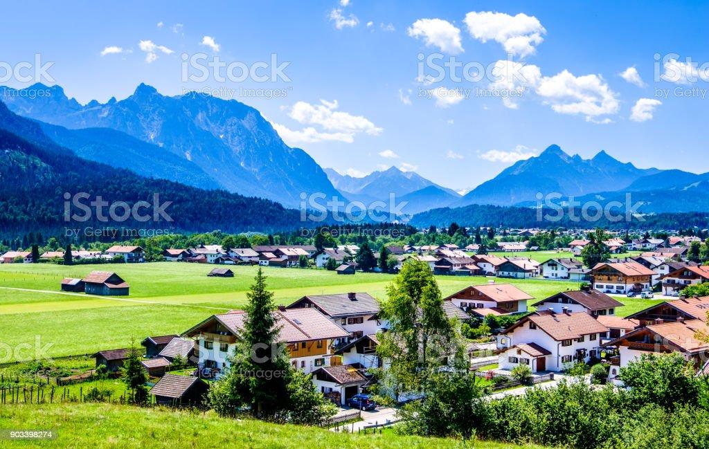 Wallgau - bavaria stock photo