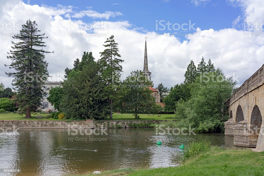 Wallingford on the River Thames stock photo
