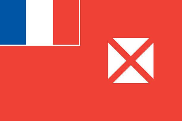 Wallis and Futuna Local Flag stock photo