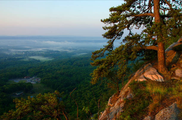 Wallkill Valley From Gunks Cliff stock photo