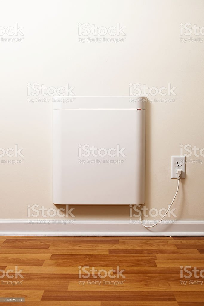 Wall-Mounted Electric Convection Heater stock photo