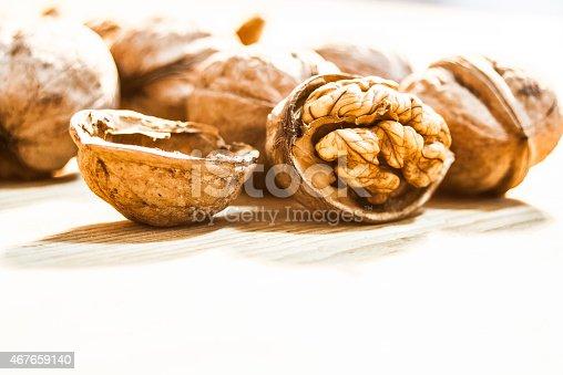 istock Wallnut white background 467659140