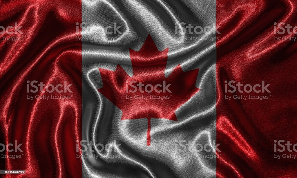 Wallpaper By Canada Flag And Waving Flag By Fabric Stock