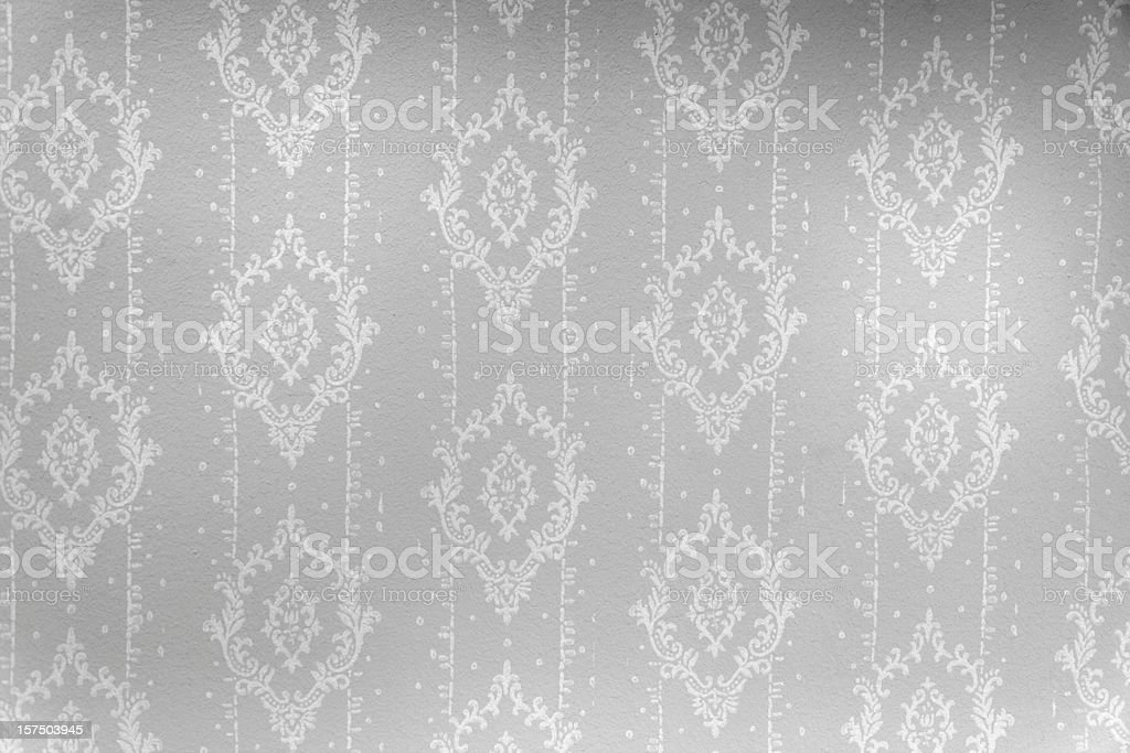 wallpaper in black and white with ornaments stock photo