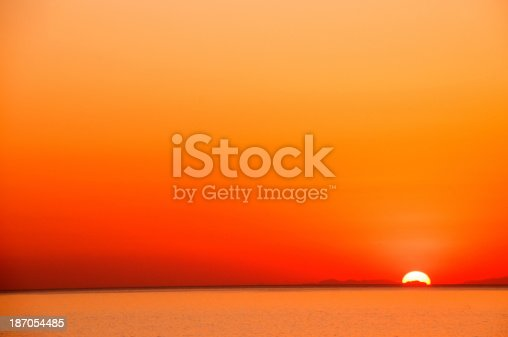 Tropical beach at sunset