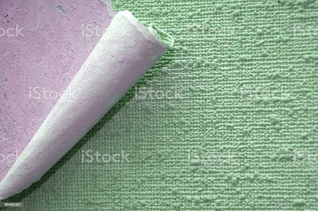 wallpaper with a rolled edge royalty-free stock photo