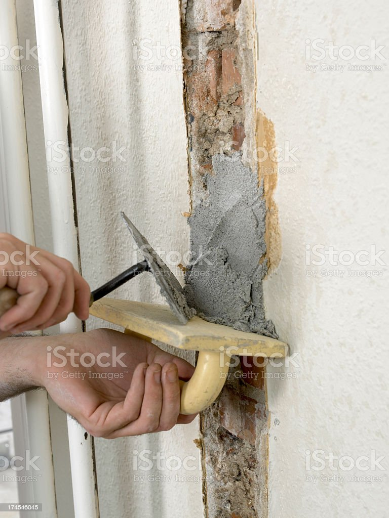 wallrepair royalty-free stock photo