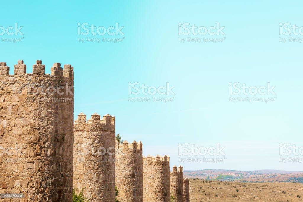 Walls of Avila, old town in Spain foto de stock royalty-free