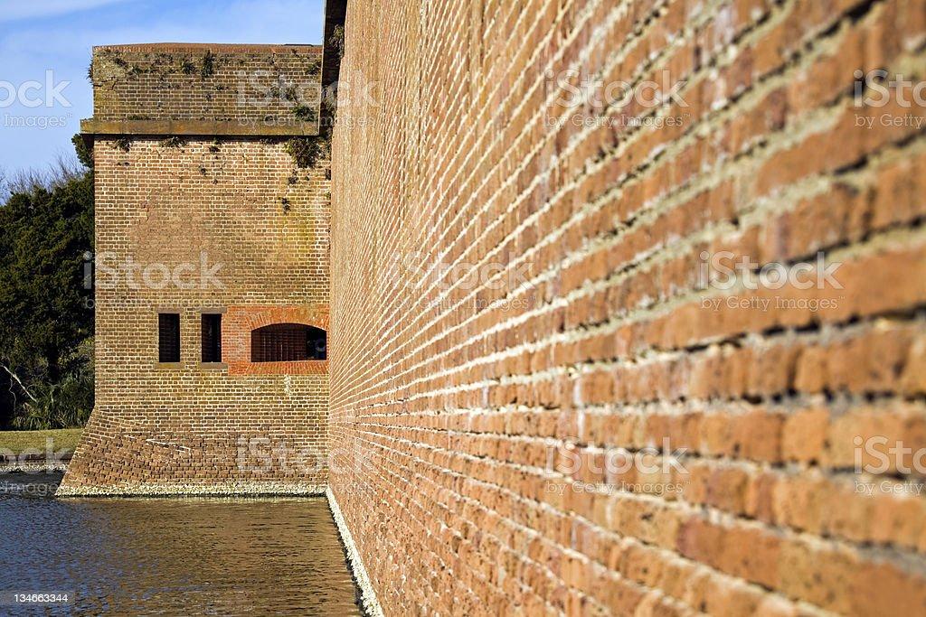 Walls of Fort Pulaski stock photo