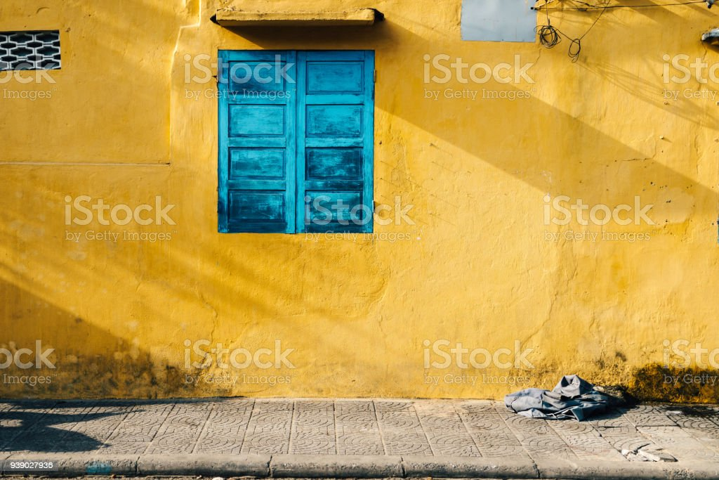 Walls of Hoi An stock photo