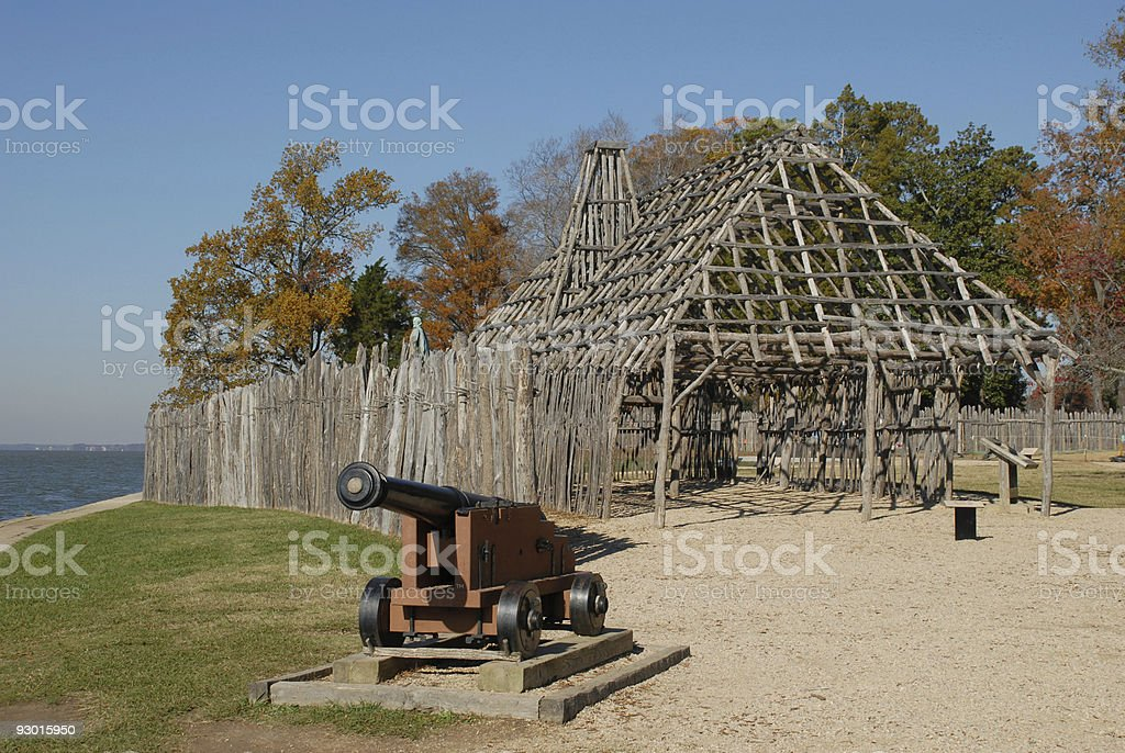Walls of Jamestown stock photo